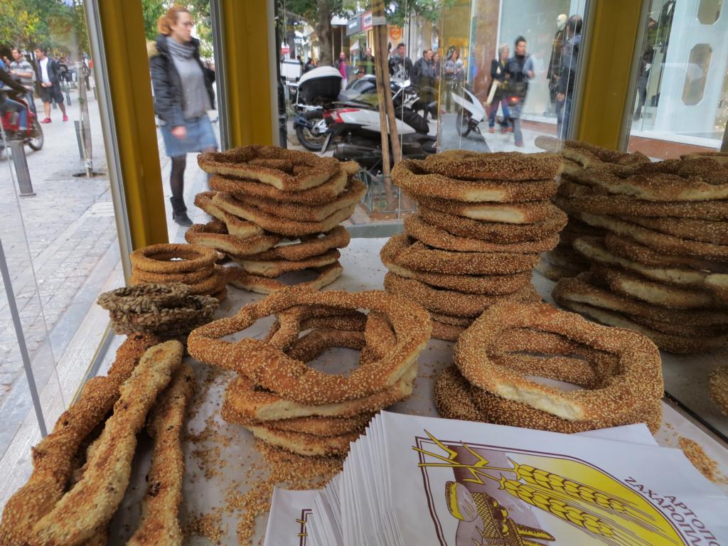 Koulouri, in Griechenland ein beliebter Snack