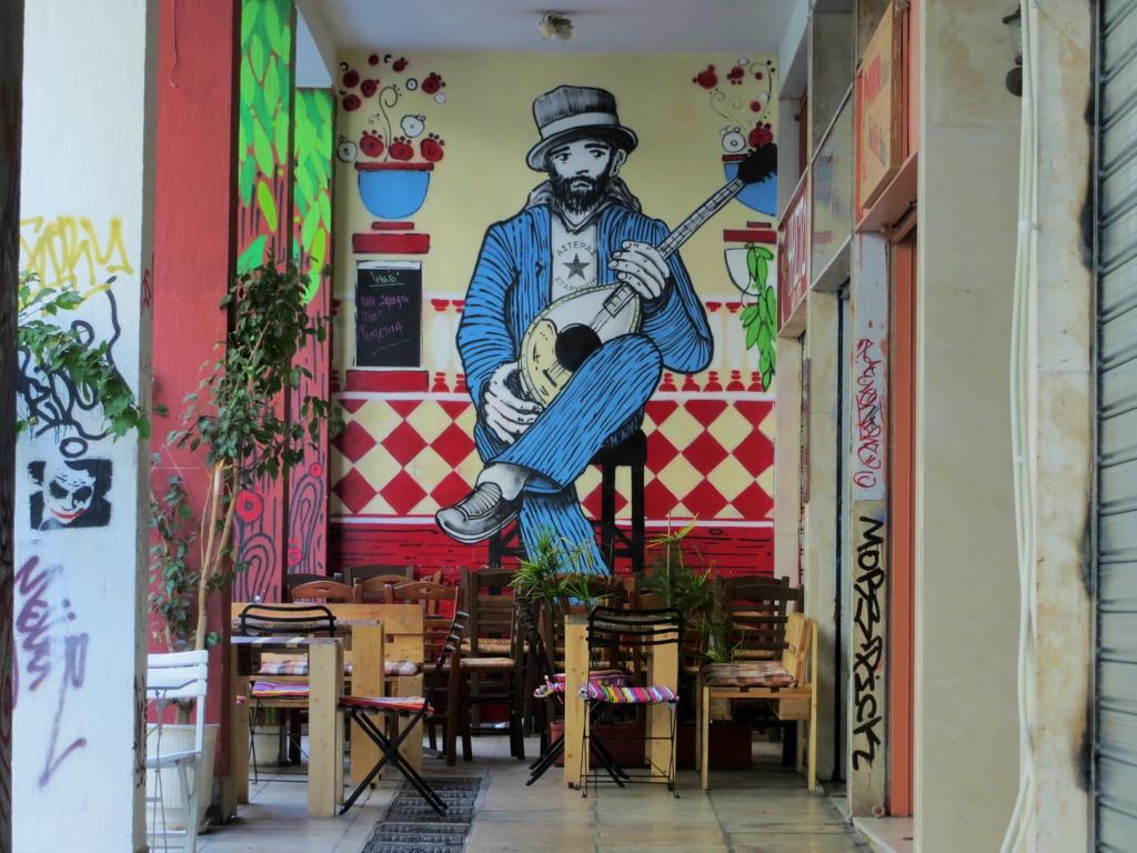 gemütliche Cafés sind in Exarchia überall zu finden