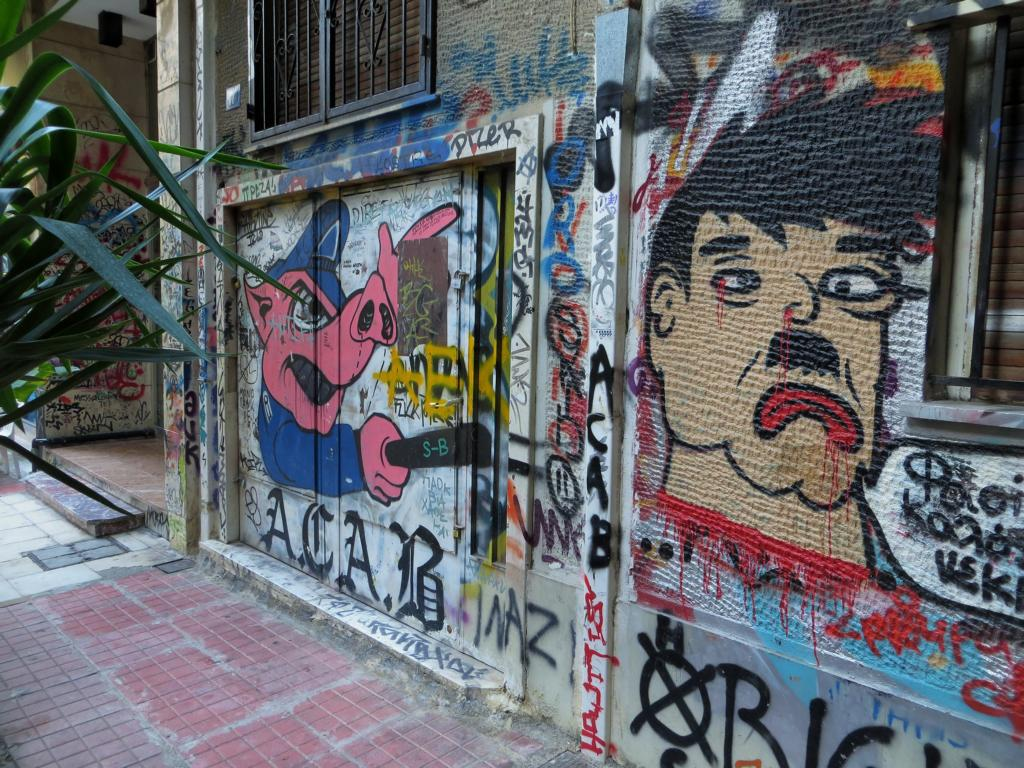 Die Polizei ist in Exarchia nicht sehr beliebt