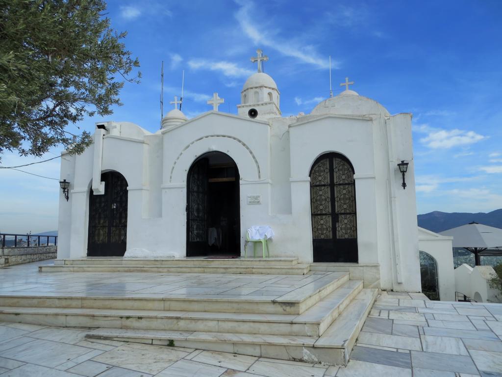 Kirche auf dem Lycabettus Hügel in Athen