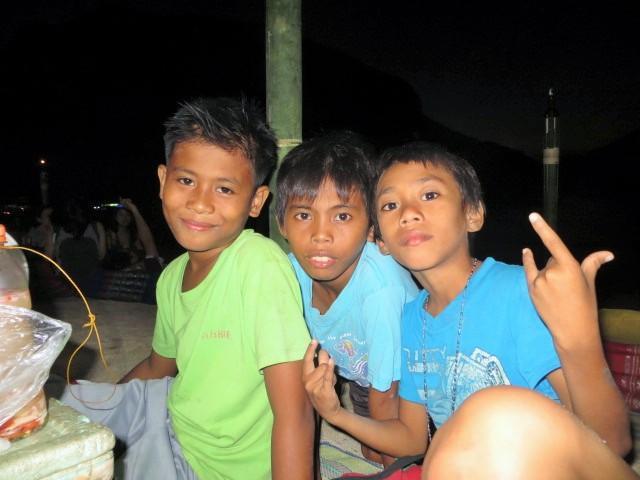 Balut Verkäufer auf Palawan