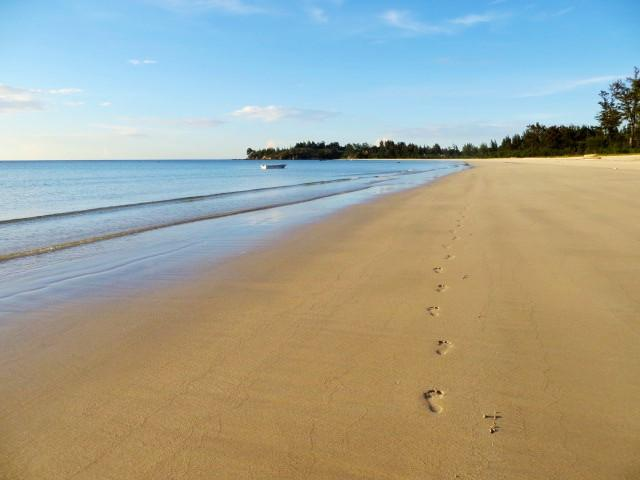 so sieht ein einsamer Strand aus...