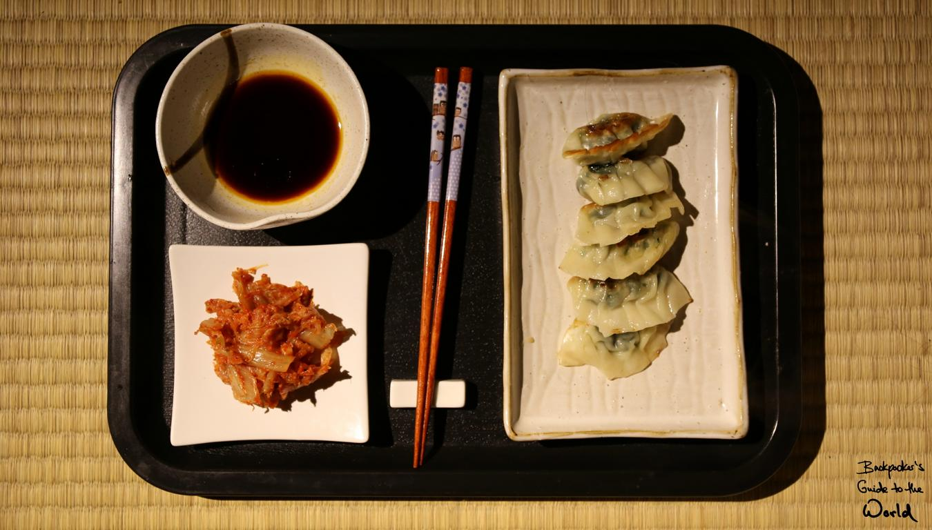 Gyoza mit Kimchi, Delikatesse aus Japan