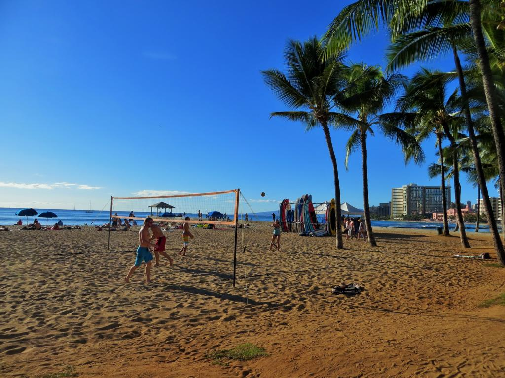 Beachvolleyball in Waikiki