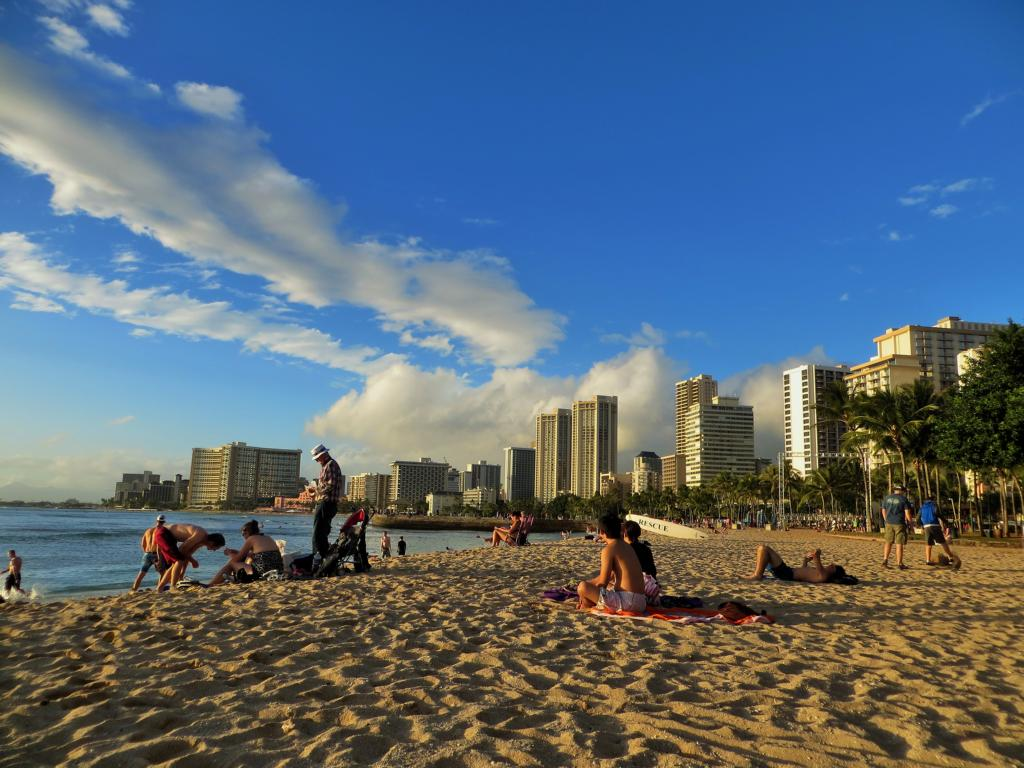 Später Nachmittag in Waikiki