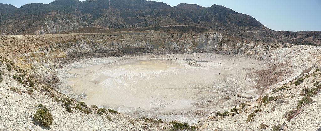 Der Vulkan Nisyros. Bild: Wiki Commons