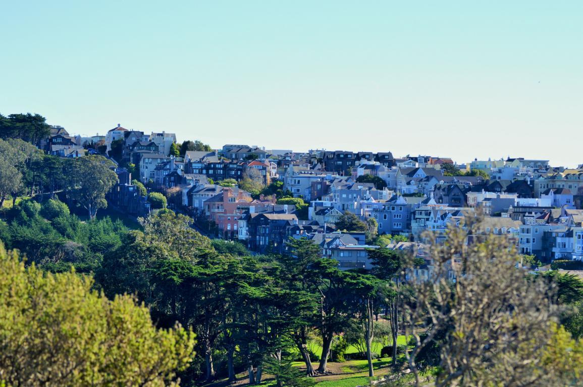 hübsche Viertel etwas ausserhalb San Franciscos