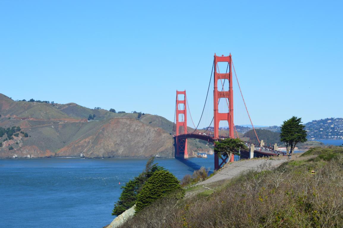 Und plötzlich ist sie da, die Golden Gate Bridge in San Francisco