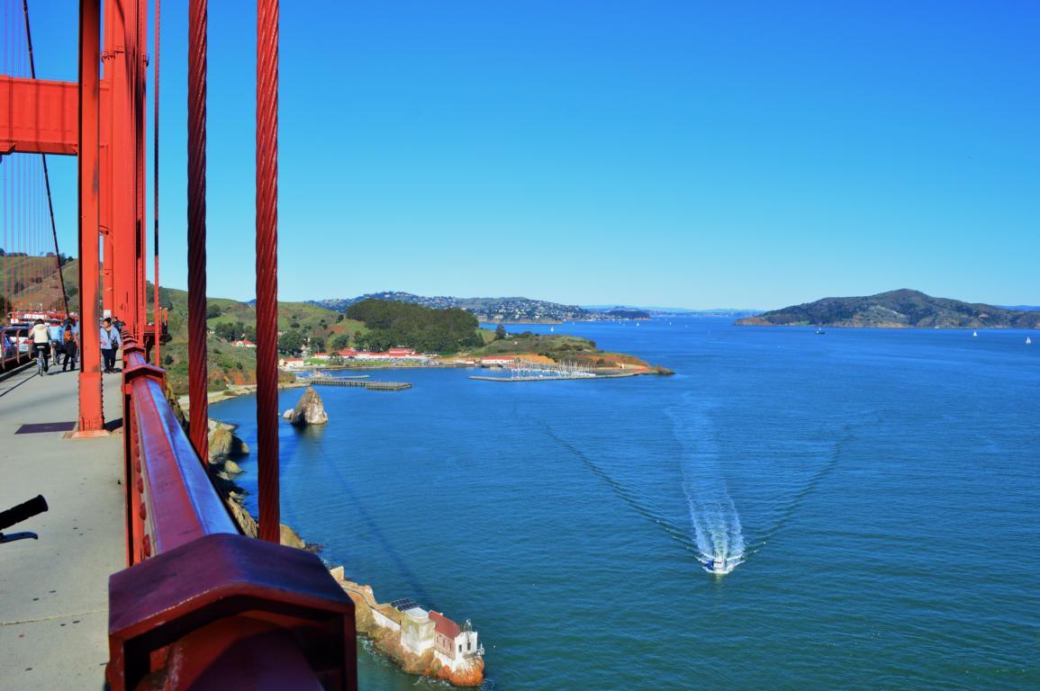 Mit dem Fahrrad über die Golden Gate Bridge in San Francisco