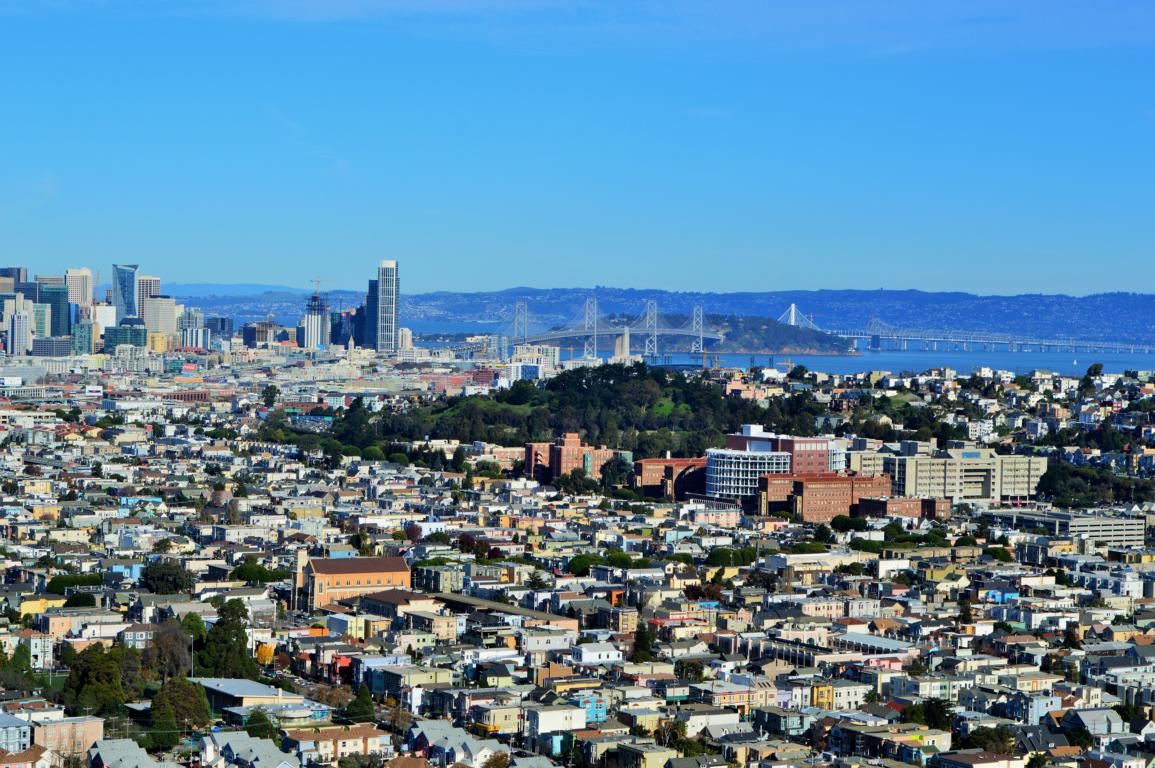 Sicht auf San Francisco vom Bernal Hights Summit