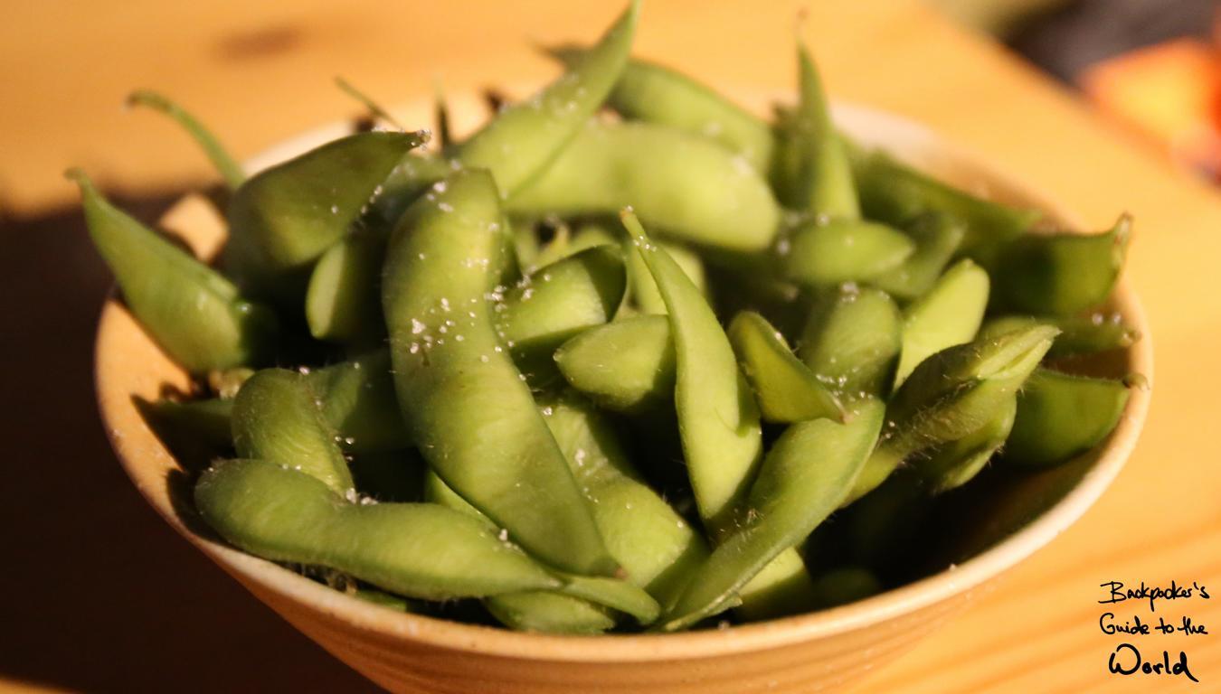 Edamame, leckere japanische Bohnen