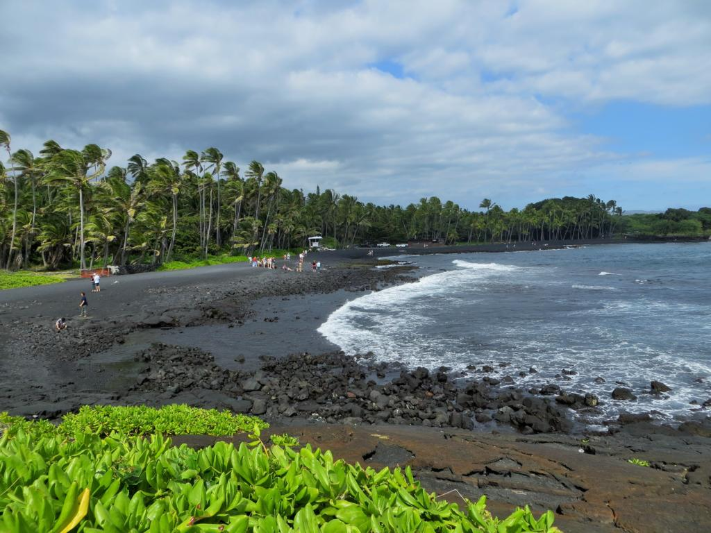 Der Black Sands Beach auf Big Island