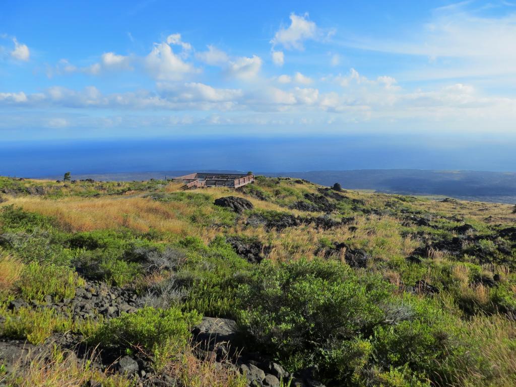 Wunderbare Ausblicke auf der Chain of Crater Road auf Hawaii