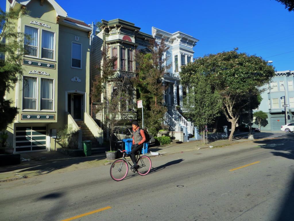 Fahrradfahren in San Francisco ist einfach toll!