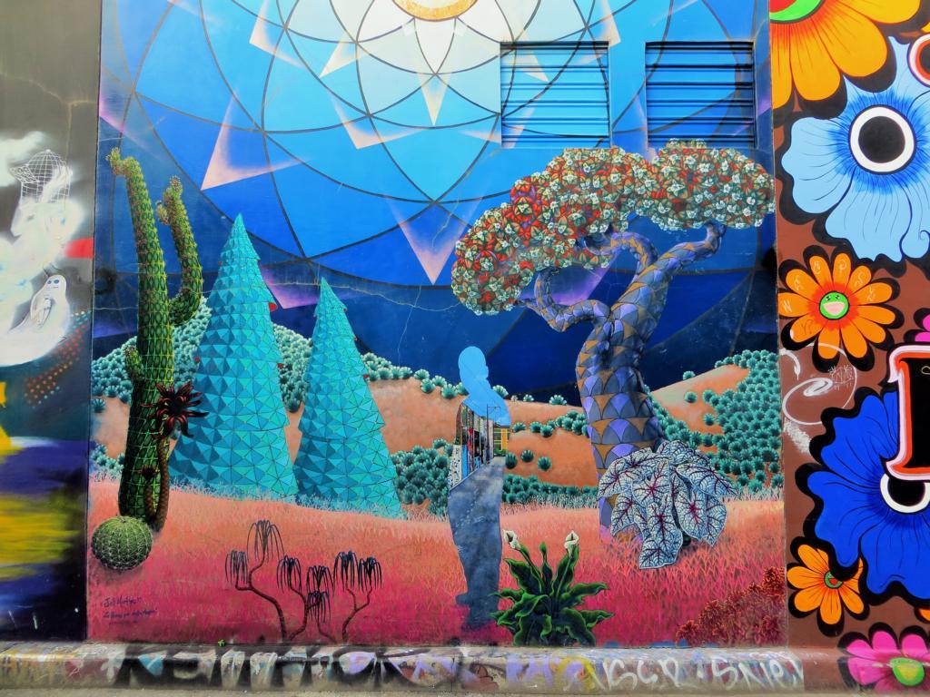 Wunderschöne Wandmalerei in San Francisco