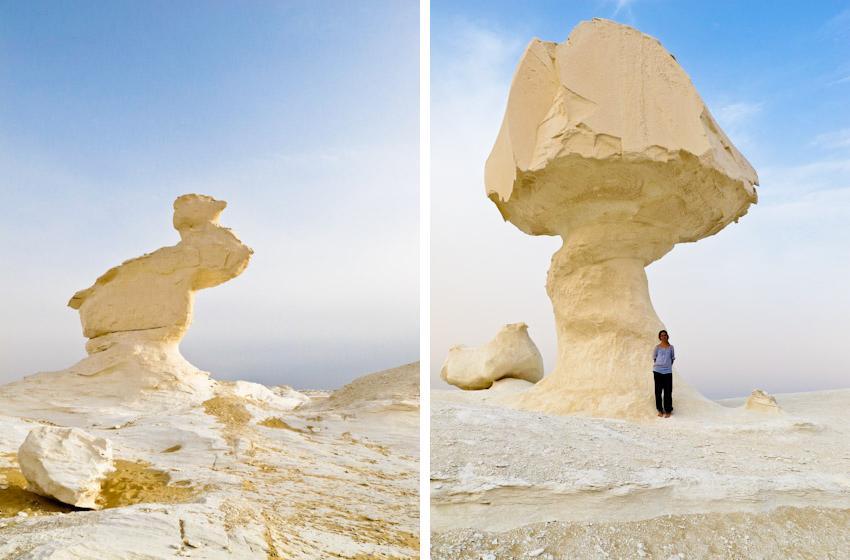 Die weisse Wüste. Foto: Marianne von Weltenbummler Mag