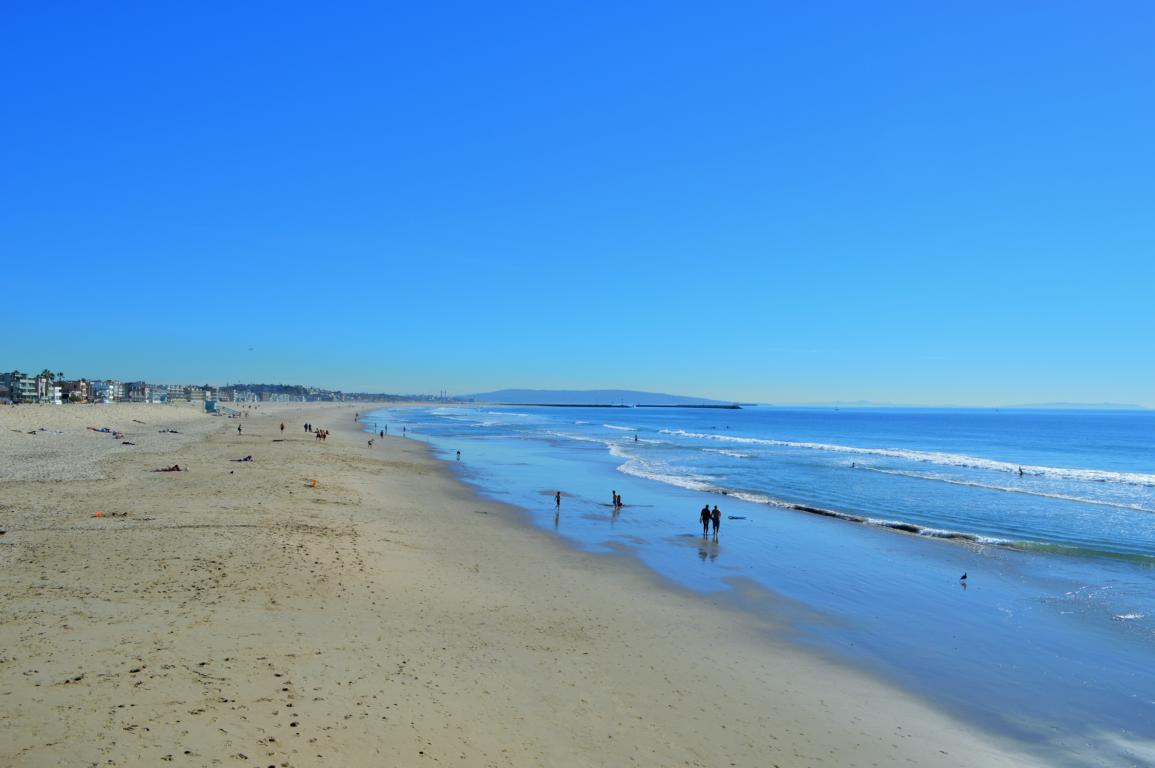 Der Venice Beach in Los Angeles ist kilometerlang und im Winter wunderbar leer.
