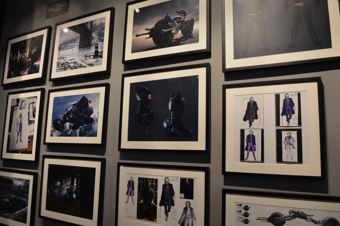 Wunderschöne Bilder in der Batman-Ausstellung im Gelände der Warner Brothers Studios.