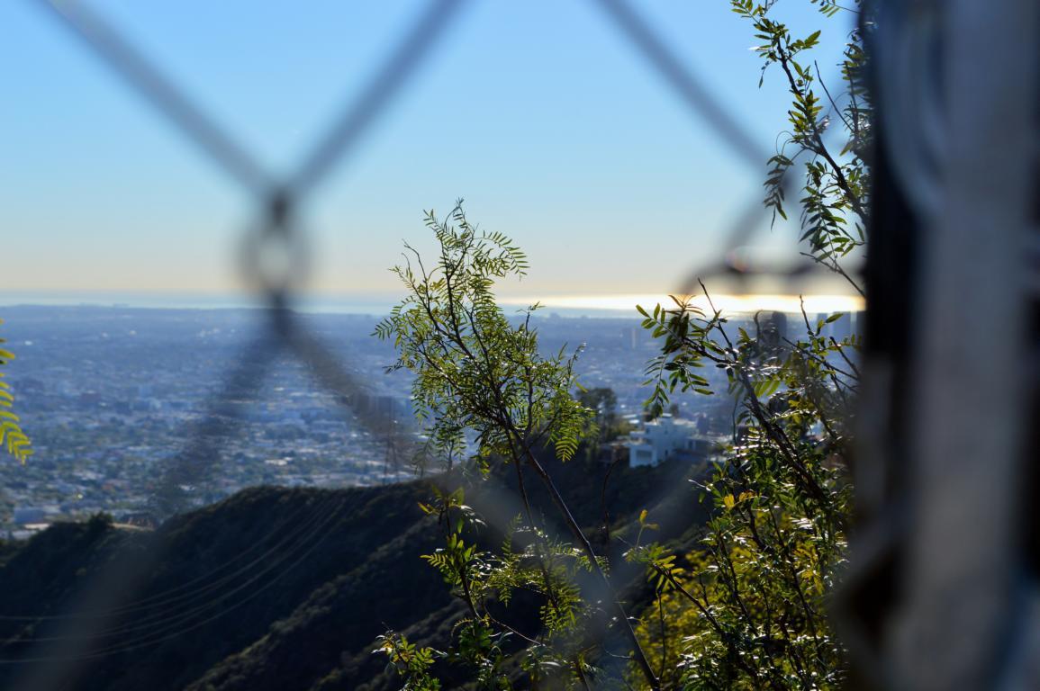 Sicht bis zum Meer auf dem Mulholland Drive.