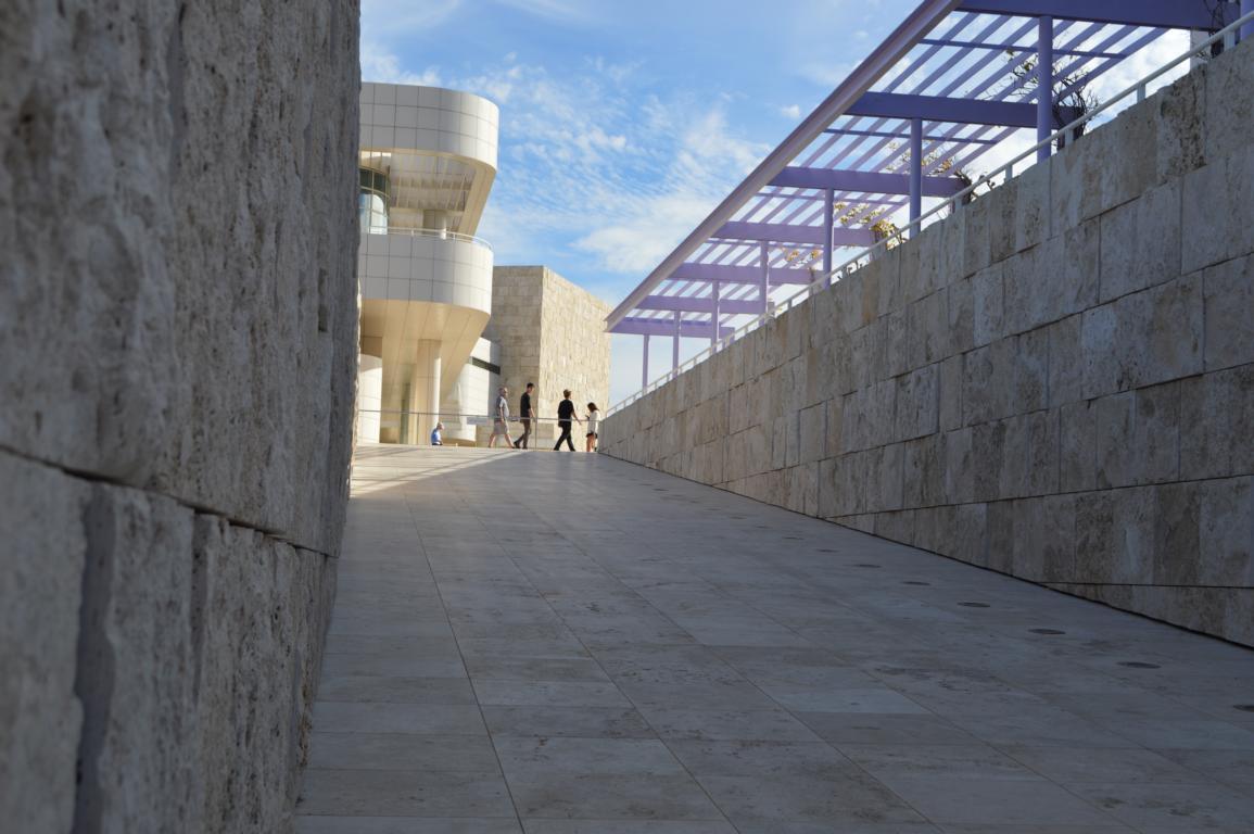 Eine spannende Architektur im Getty Center in Los Angeles.