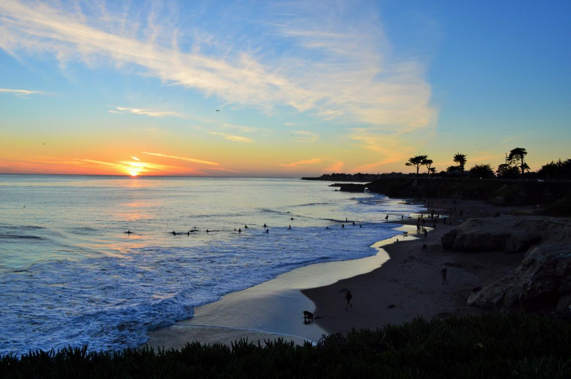 Sonnenuntergang in Santa Cruz, Kalifornien