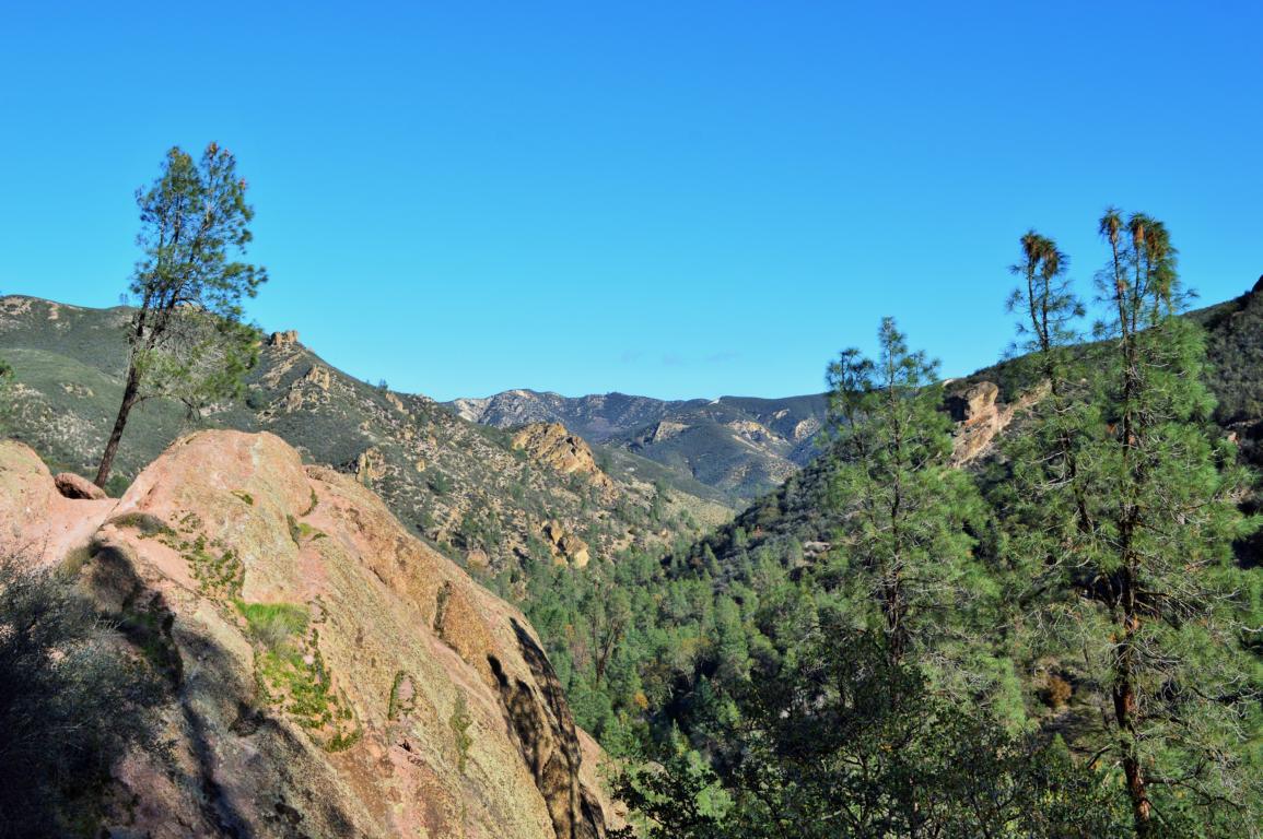 Aussicht im Pinnacle Nationalpark in Kalifornien.