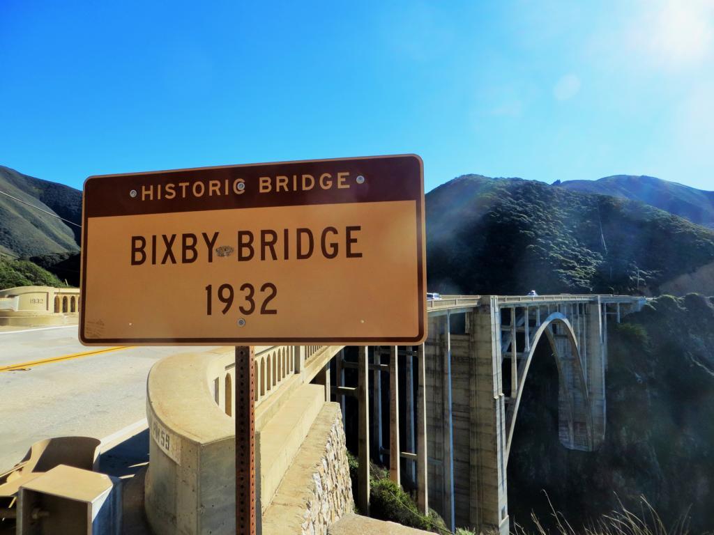 Die Bixby Brücke auf dem Highway 1 in Kalifornien.