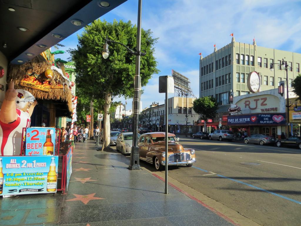 Der Walk of Fame in Hollywood