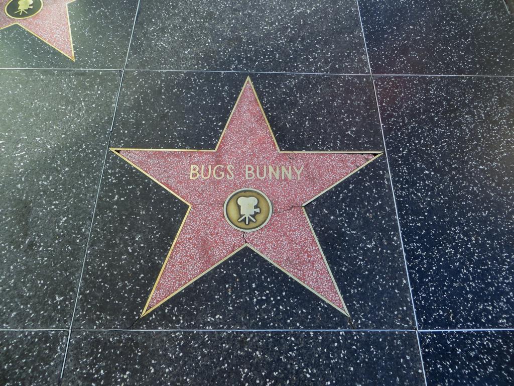 Sogar Bugs Bunny hat einen Stern!