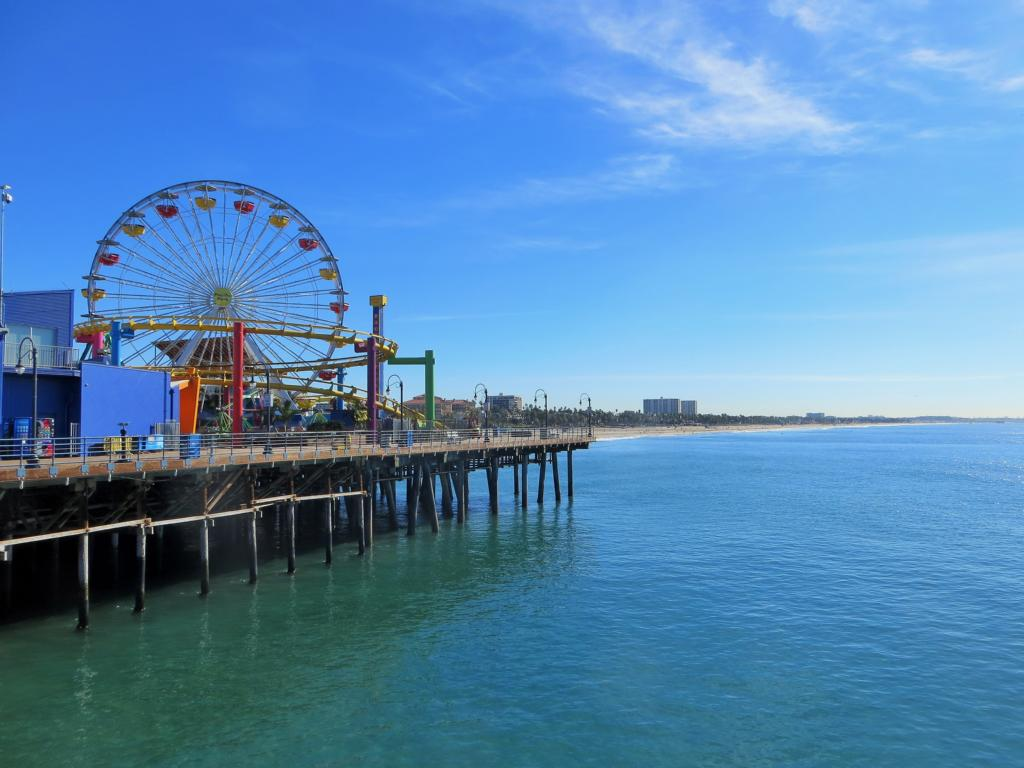 Das Santa Monica Pier in Los Angeles.