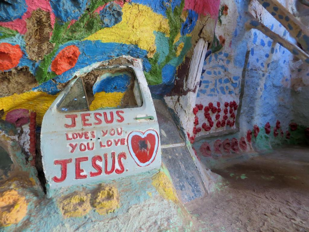 Im Salvation Mountain in Slab City.
