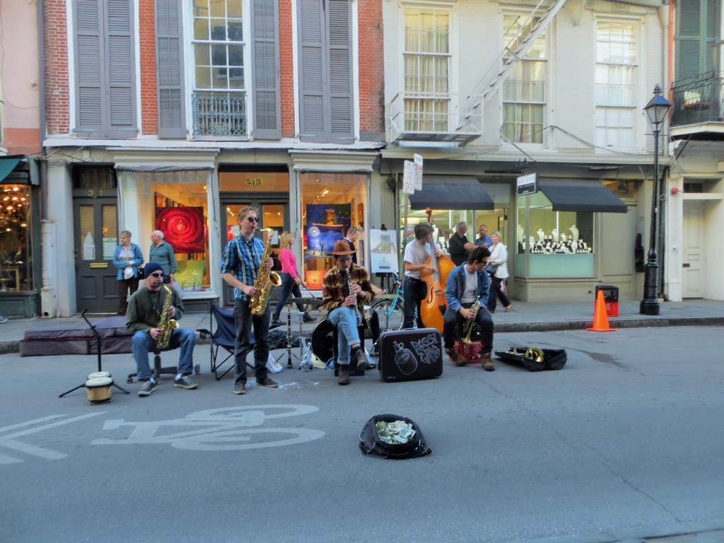 Strassenmusiker in New Orleans