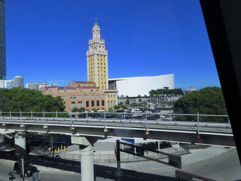 Aussicht vom Metromover in Miami.