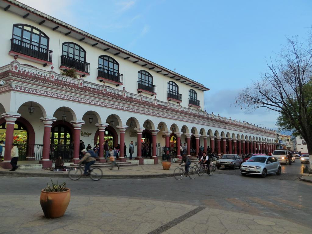 Beeindruckende Architektur in San Cristobal de las Casas in Mexiko.