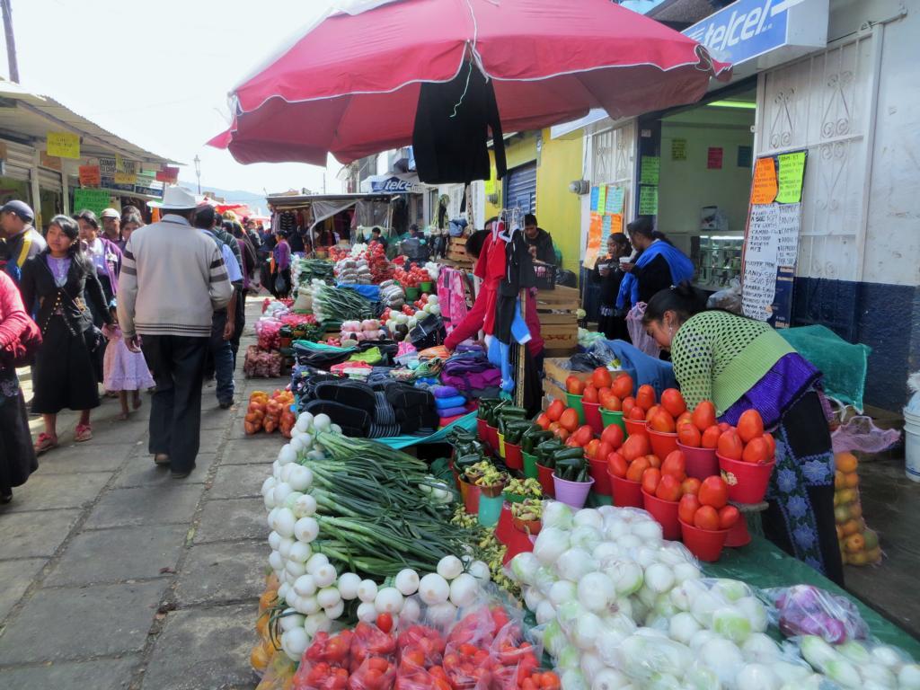 Der lokale Markt in San Cristobal de las Casas.