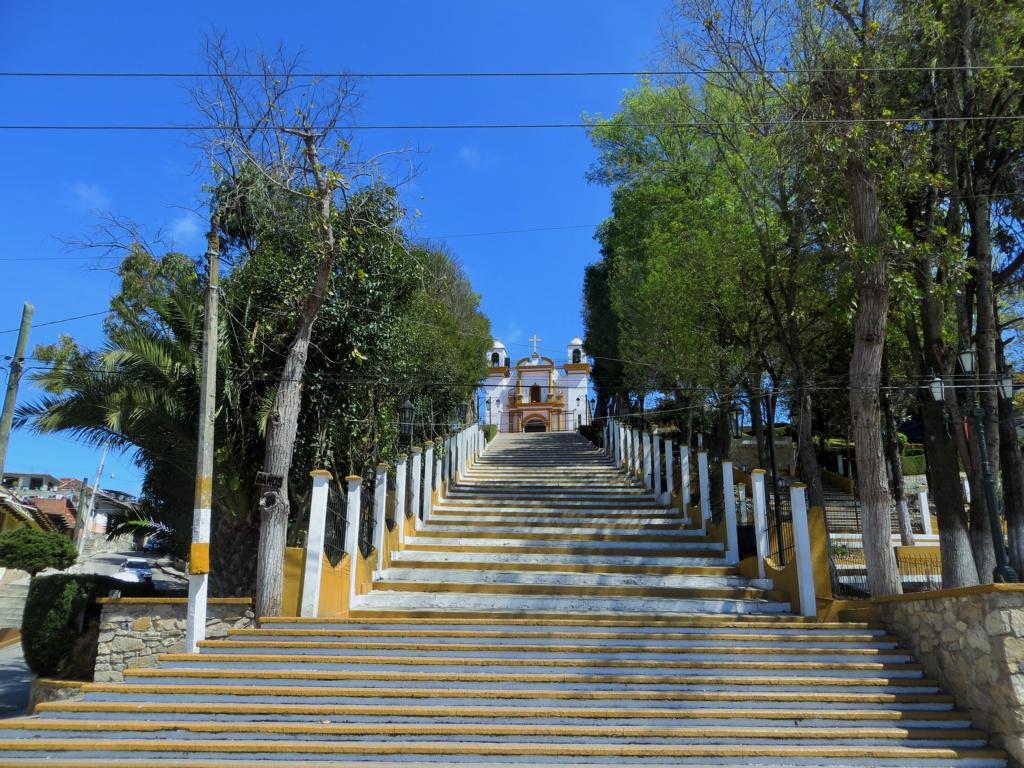 Aufstieg zur Kirche Guadaloupe in San Cristobal de las Casas.