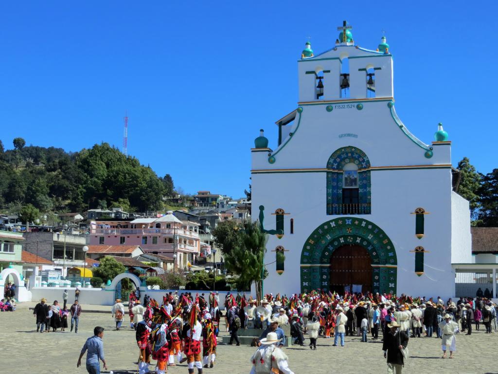Maya Karneval in San Juan de Jamula in Mexiko.