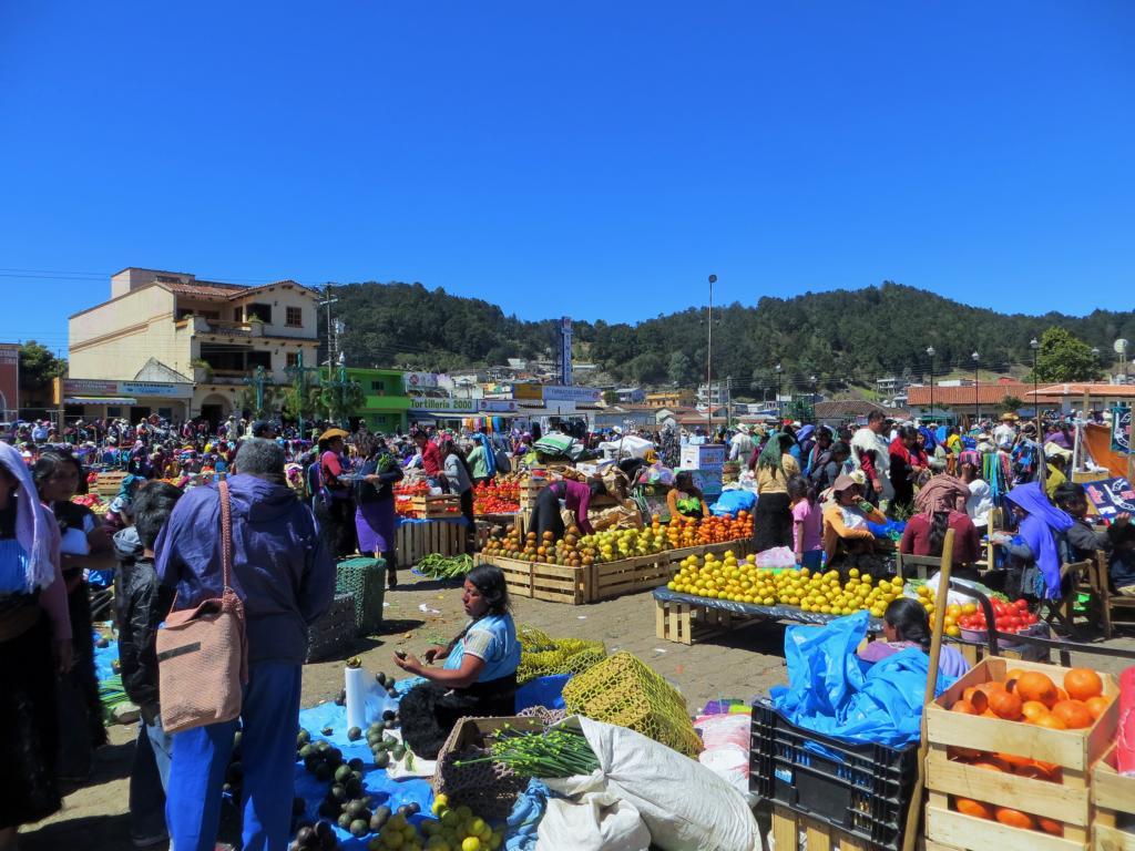 Markt in Jamula, Mexiko.