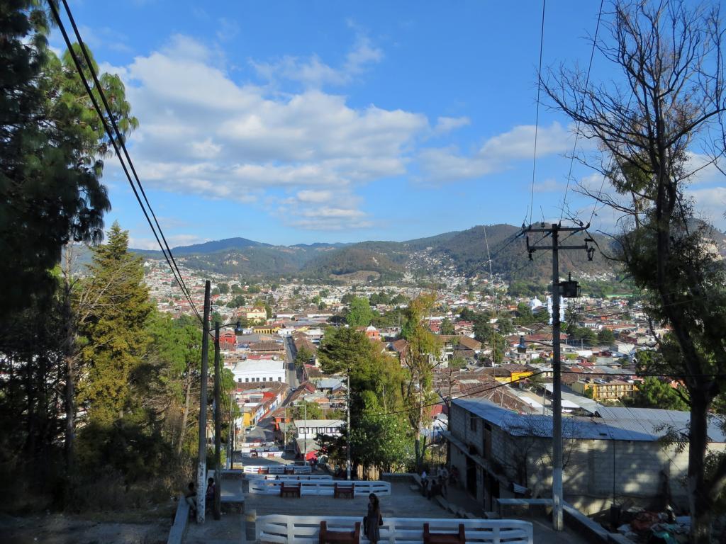 Aussicht vom Cerro San Cristobal in Mexiko.
