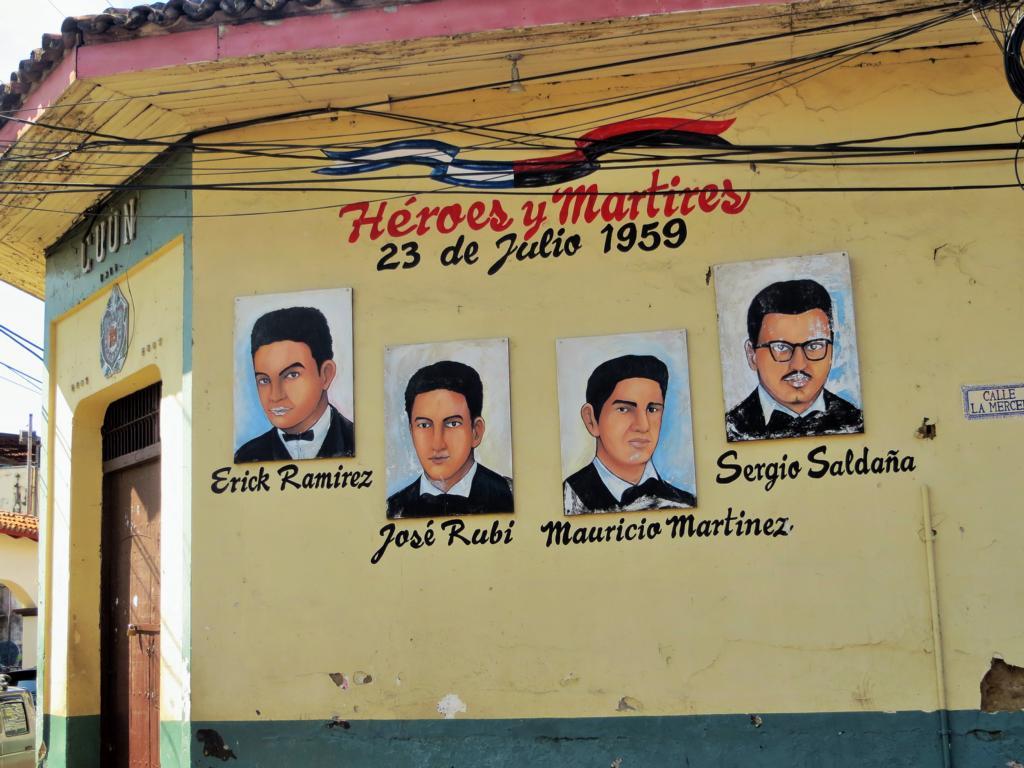 Die Helden der Revolution werden in Leon bis heute gefeiert.