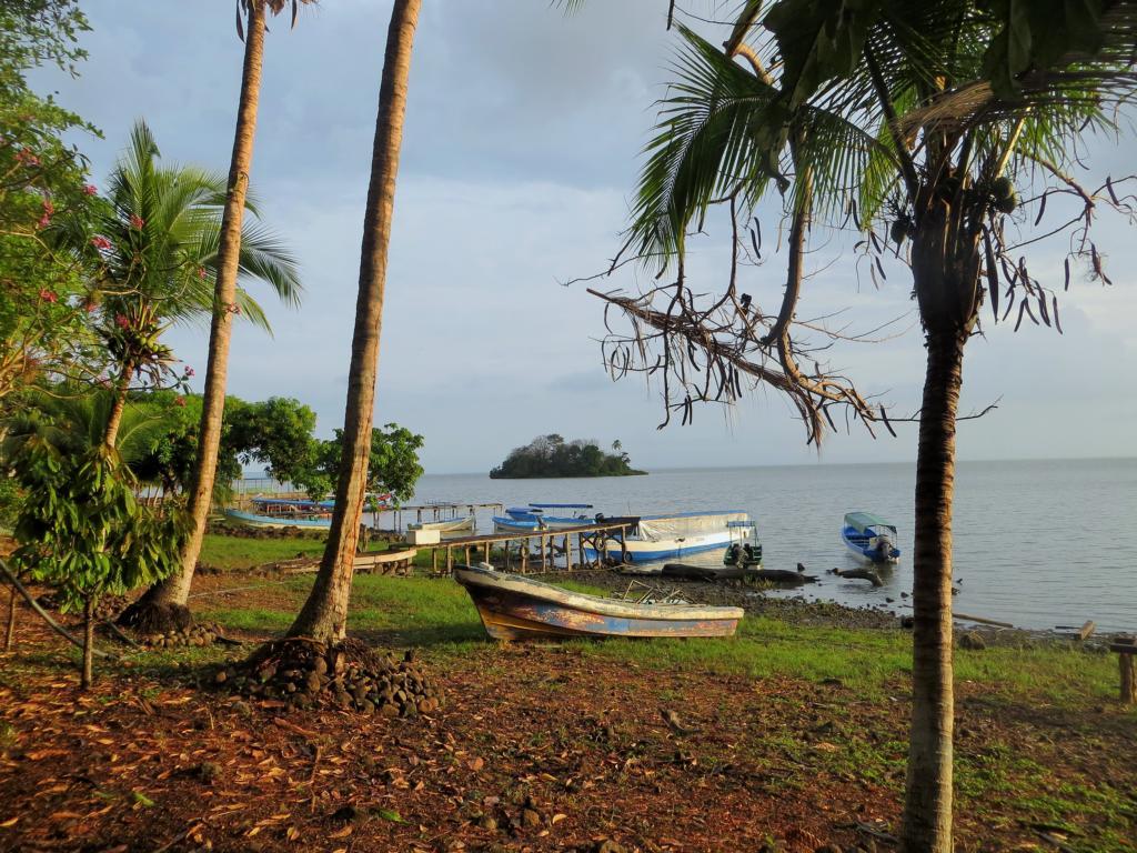 Der Hafen der Isla San Fernando der Solentiname Inseln in Nicaragua.