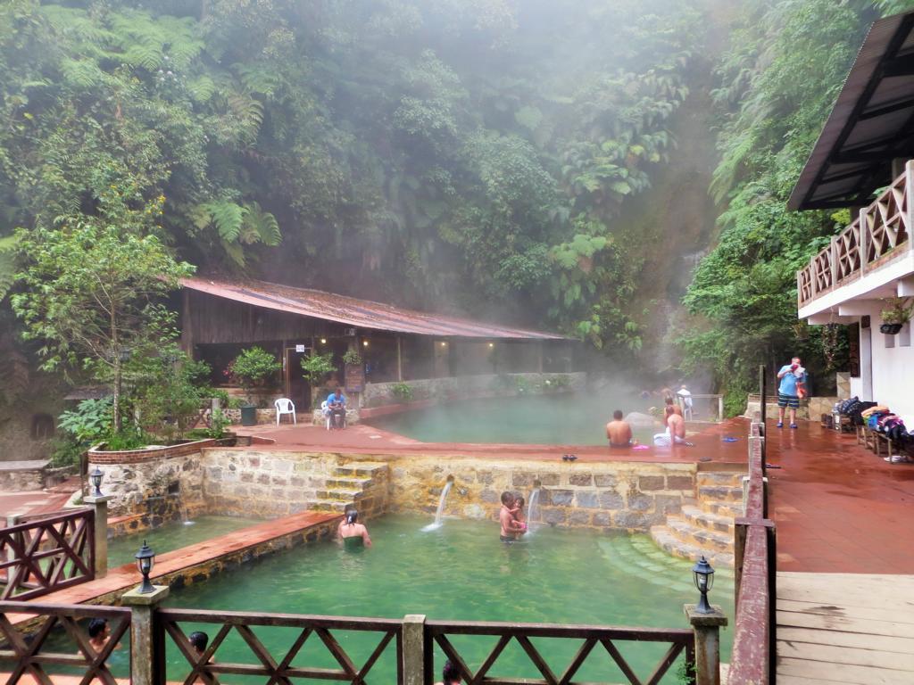 Die Fuentes Georginas in der Nähe von Xela in Guatemala.
