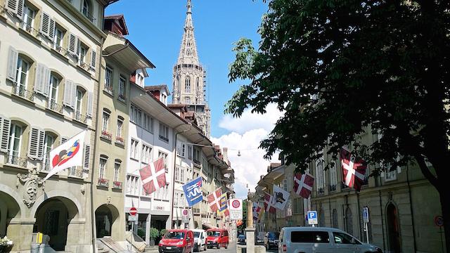 In den Gassen von Bern.