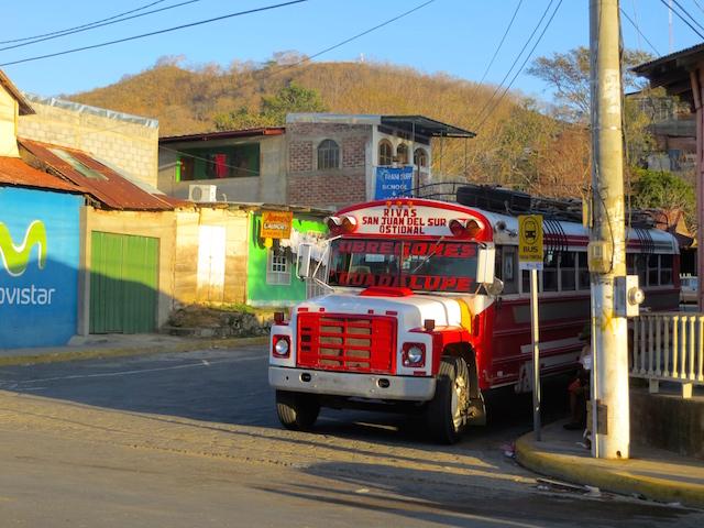 Der Bus, der nach Rivas fährt.