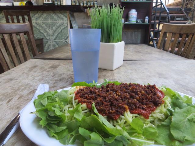 Vegane Spaghetti in Buddhas Garden - unbedingt ausprobieren.