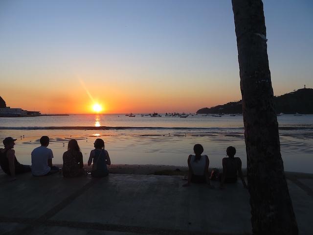 Der Sonnenuntergang in San Juan del Sur: Ein allabendliches Spektakel.