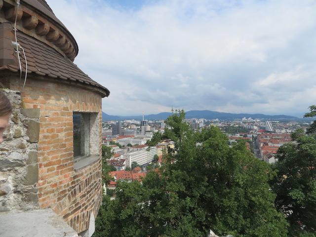 Aussicht von der Burg über die Stadt Ljubljana.