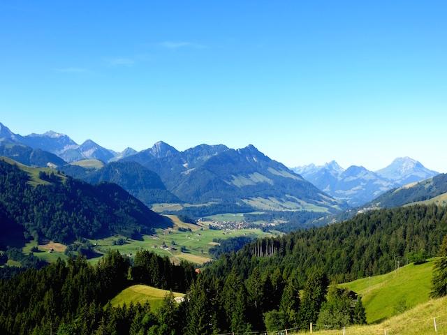 Kleine Wanderung zur Alpkäserei in Cerniat. Eine wunderschöne Aussicht!