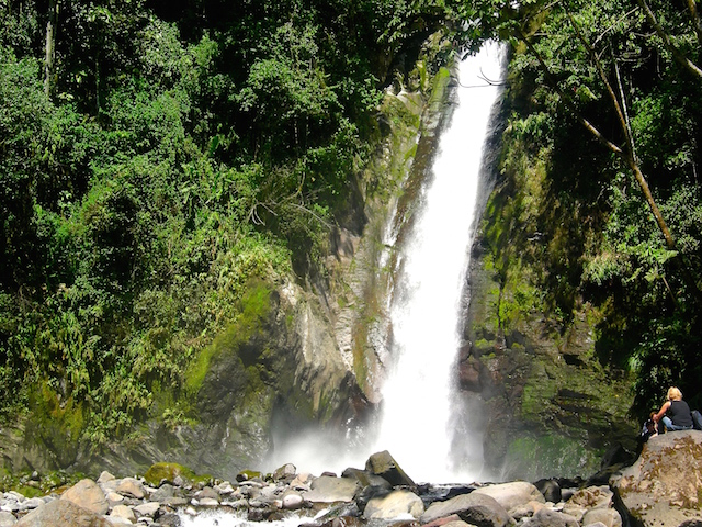 Wasserfall in Turrialba, Costa Rica.