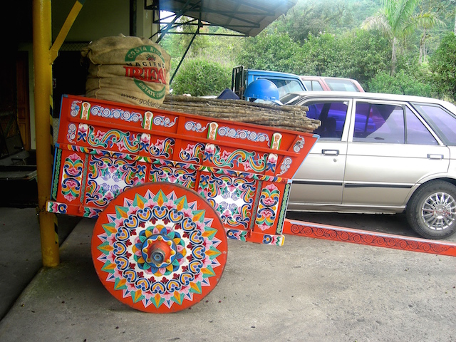 Traditionelle Wagen in Costa Rica.